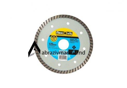 Алмазный диск турбо тонкий flexovit Ø 125