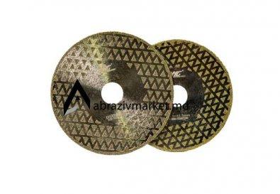 Алмазный диск напыление (пирамидка) Ø 115, 125